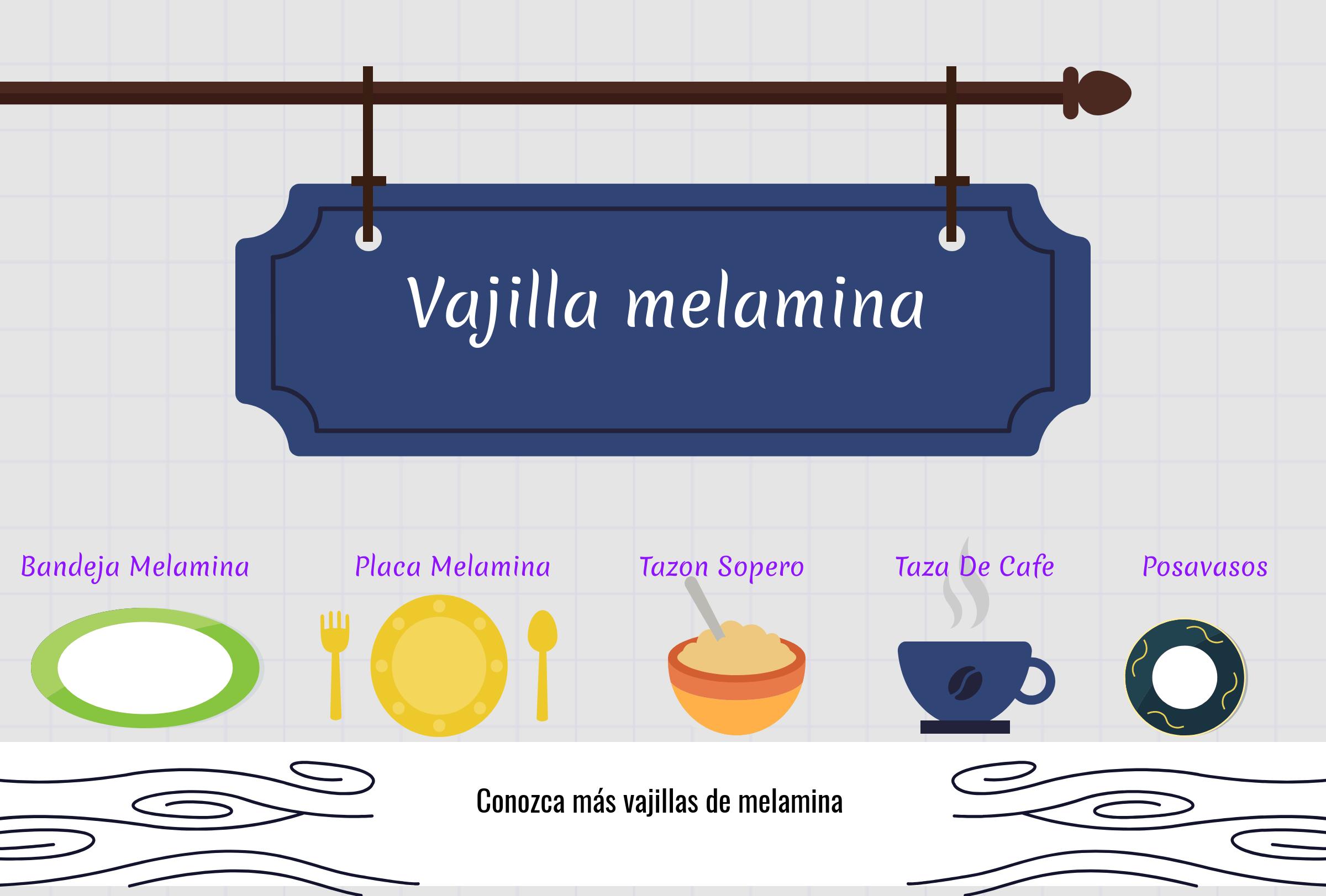 Vajilla de melamina