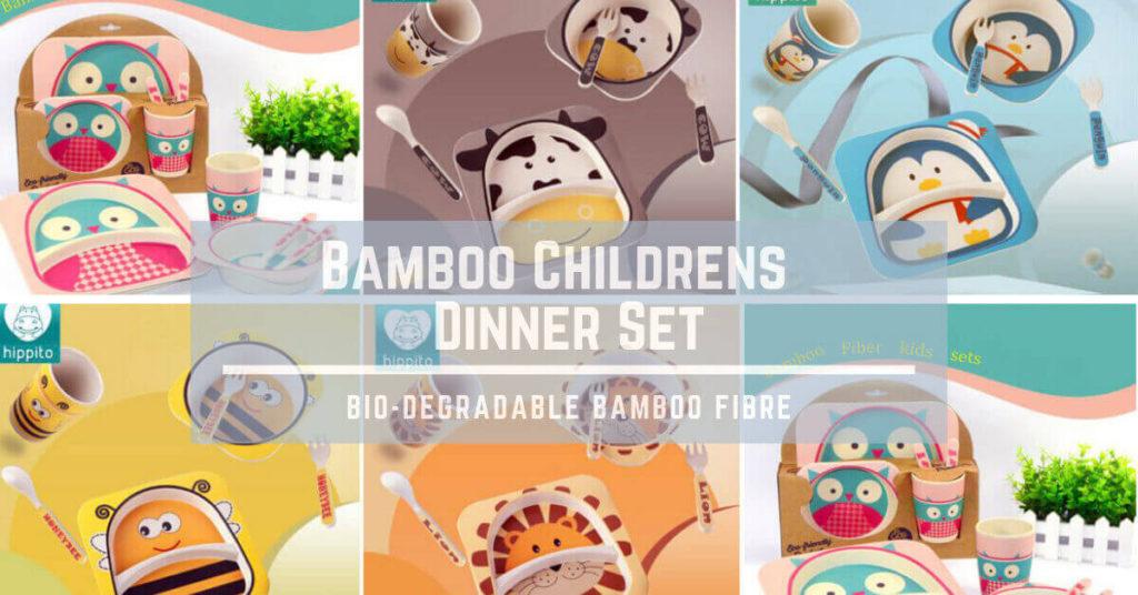Bamboo Childrens Dinner Set